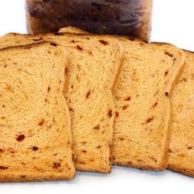 pan molde con pimientos